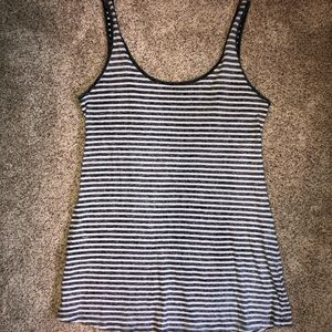 Forever 21 Gray Striped Mini